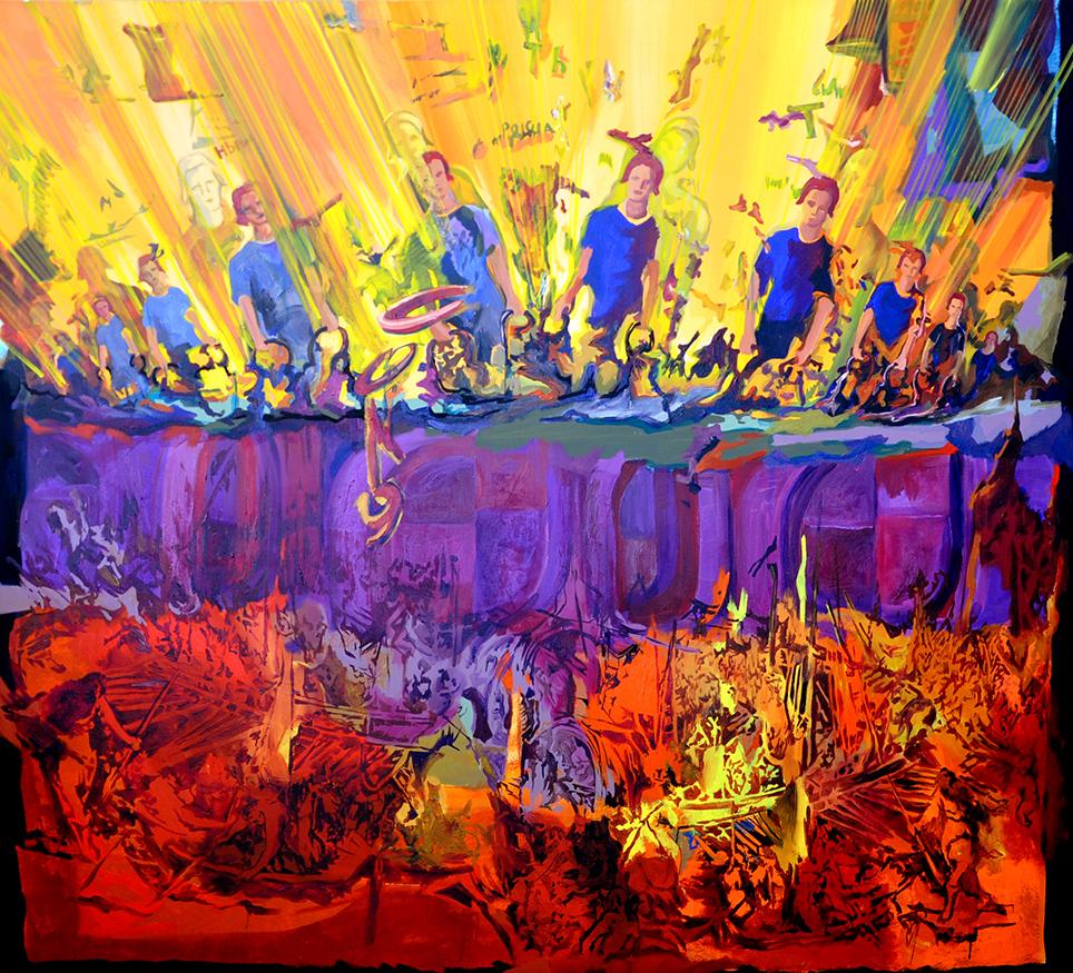 acrylic on canvas, 190 x 210 cm