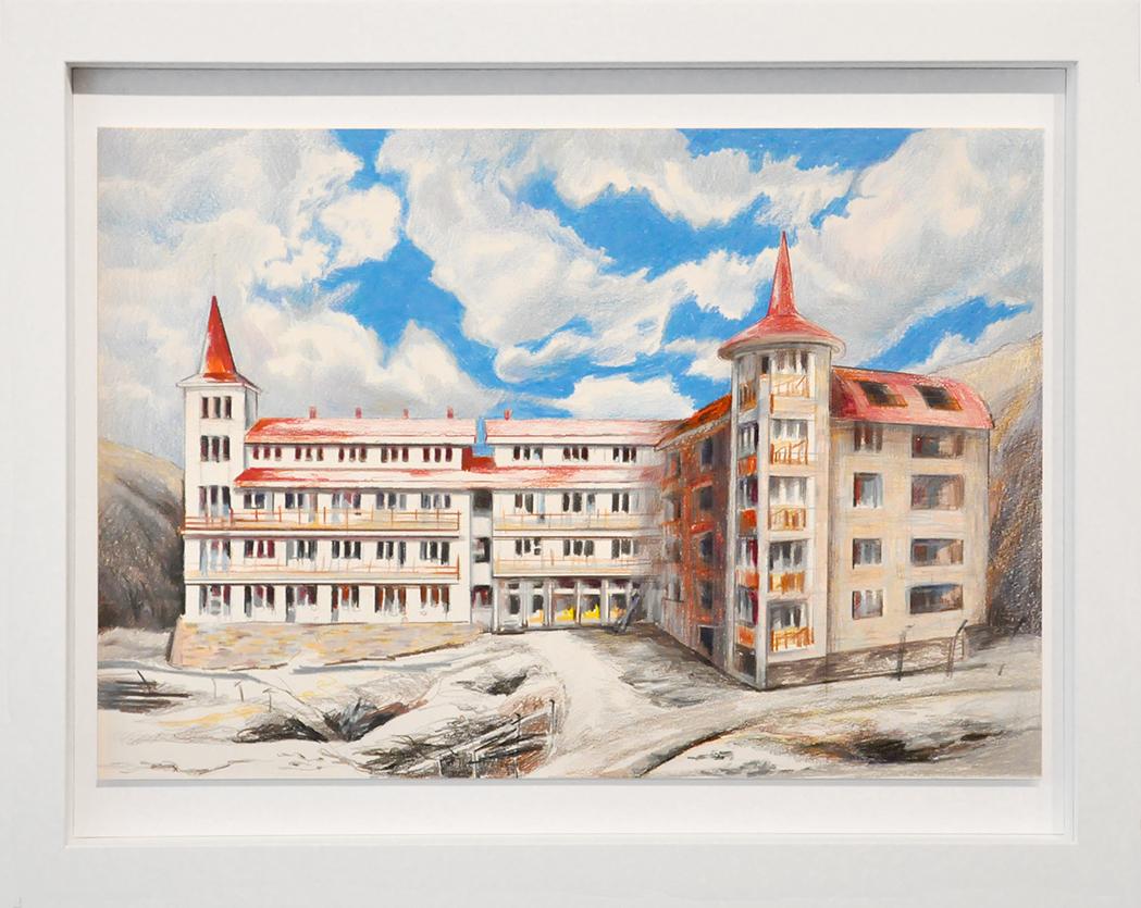 paper, framed, 54 x 43 cm
