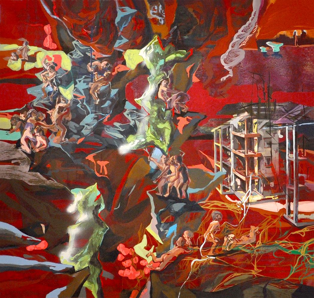 acrylic on canvas, 143 x 151 cm