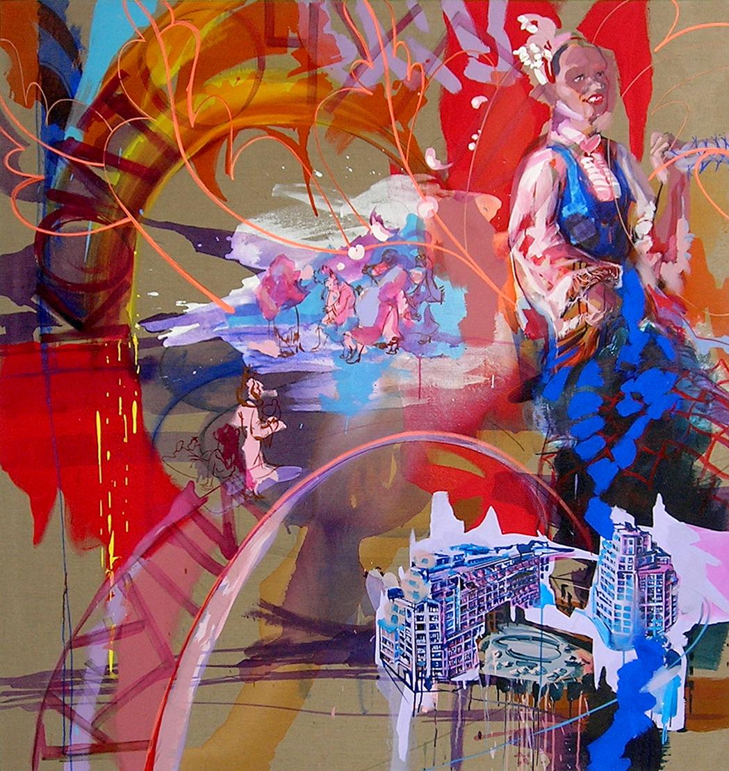 oil & acrylic on canvas, 180 x 150