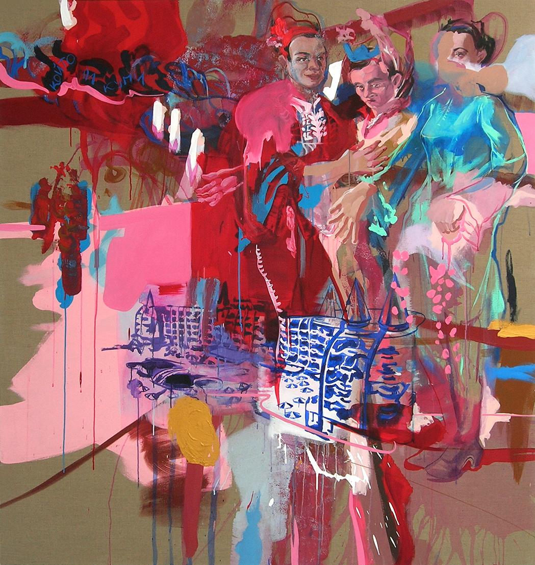 oil & acrylic on canvas, 180 x 150 cm