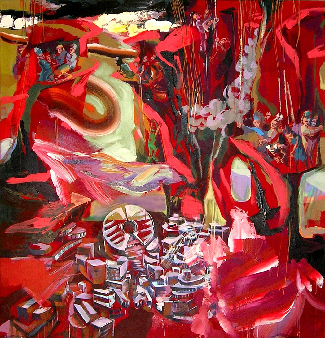 acrylic on canvas, 160 x 150 cm