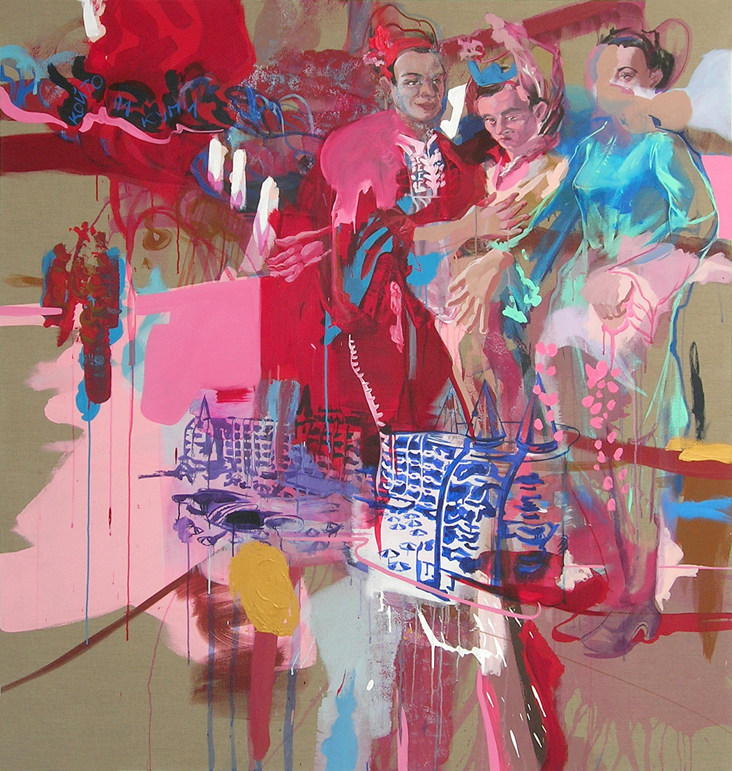 acrylic on canvas, 180 x 150 cm