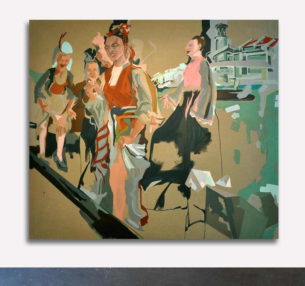 acrylic on canvas, 230 x 210 cm