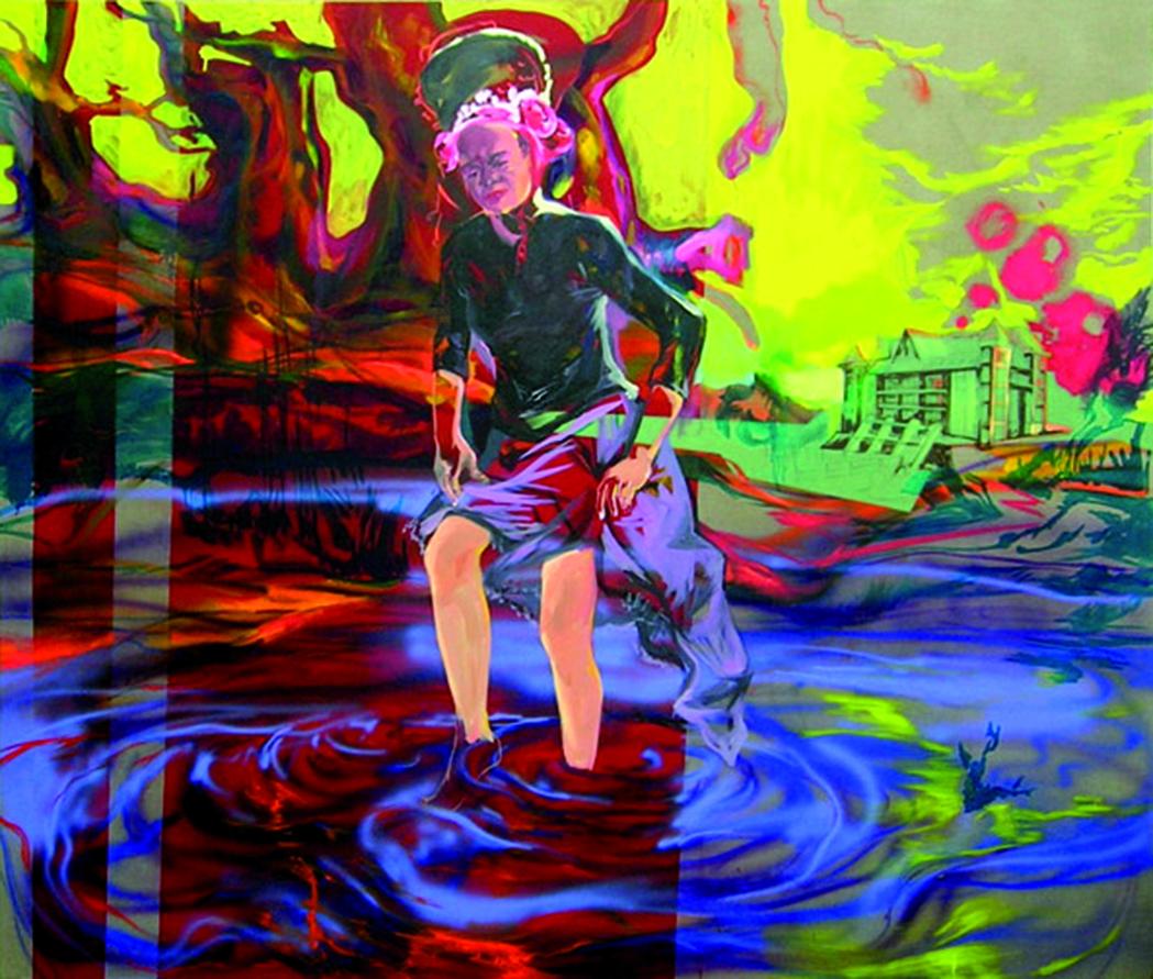acrylic on canvas, 220 x 190 cm