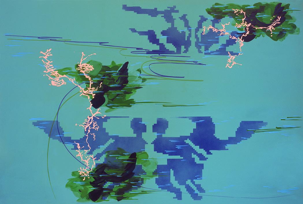 acrylic on canvas, 140 x 210 cm