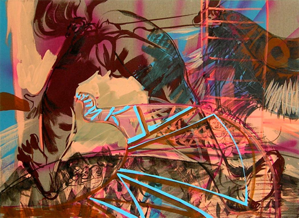acrylic on canvas, 90 x 140 cm