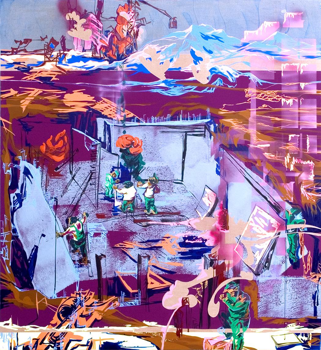 acrylic on canvas, 194 x 176cm