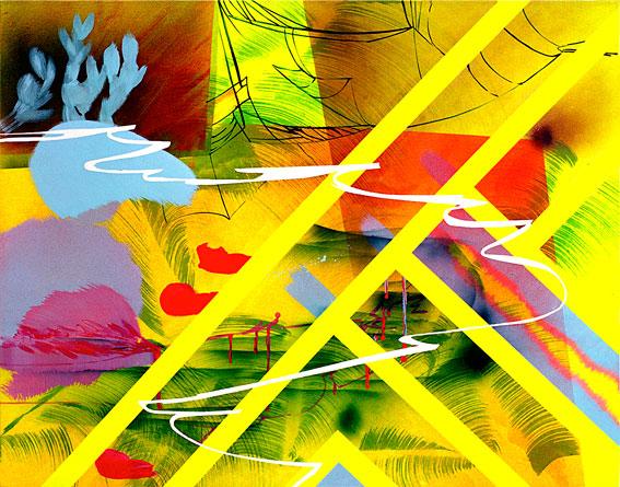 acrylic on canvas, 110 x 140 cm