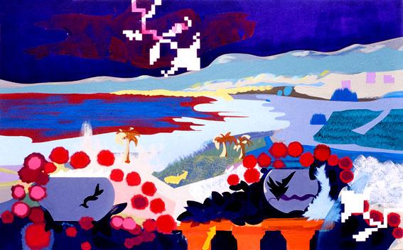 acrylic on canvas, 80 x 138 cm