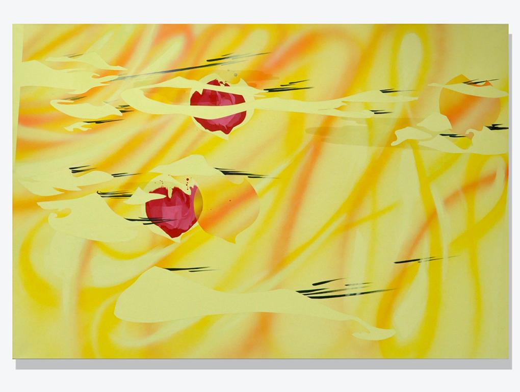 acrylic on canvas, 160 x 230 cm