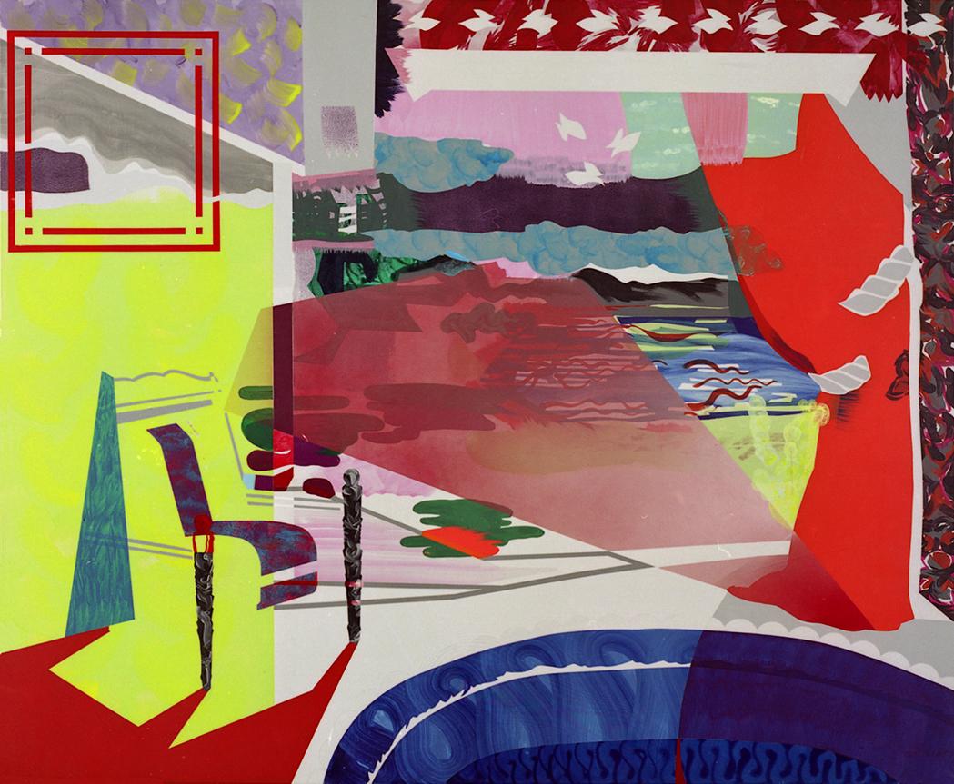 acrylic on canvas, 180 x 210 cm
