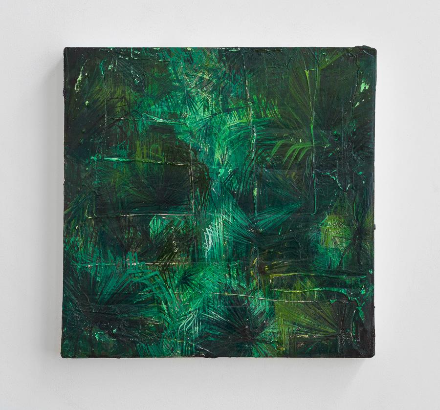 technique mixte sur toile, 40x40 cm