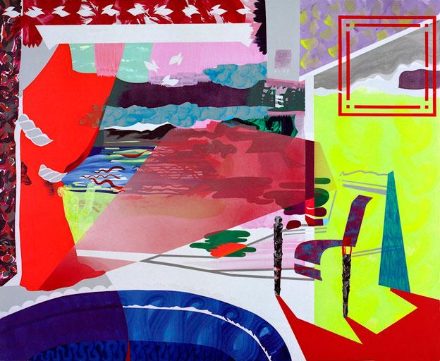 acrylique sur toile, 180 x 210 cm