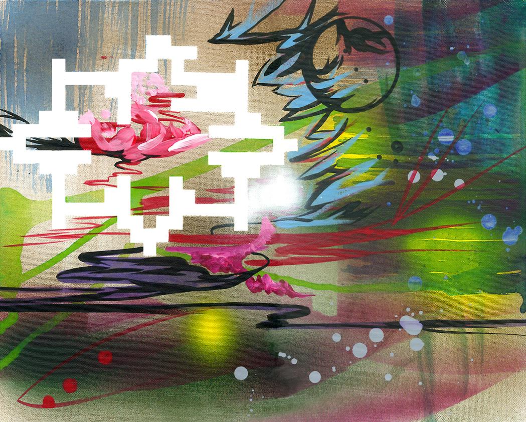 acrylique sur toile, 28 x 36 cm
