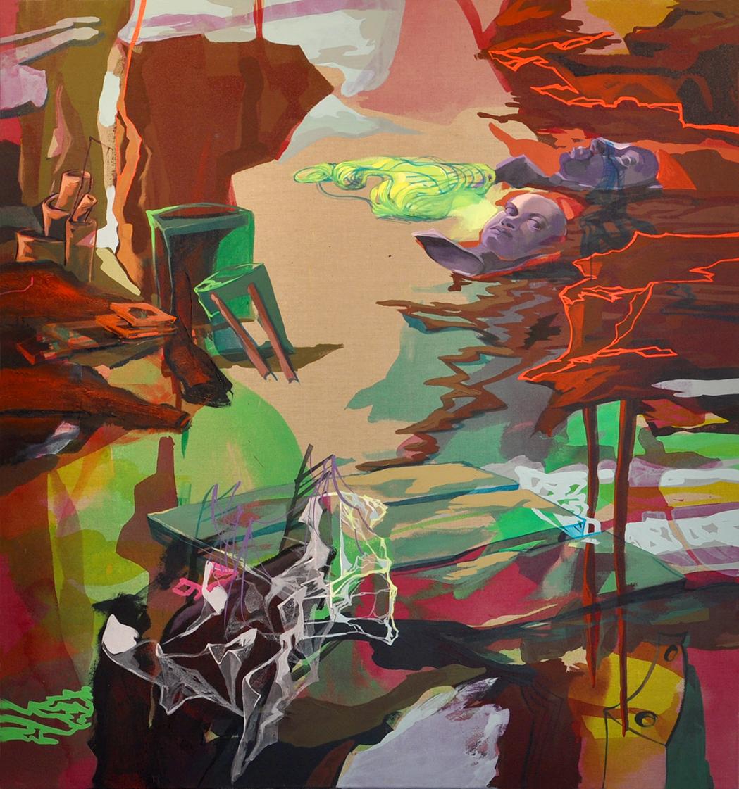 acrylique sur toile, 180 x 150 cm