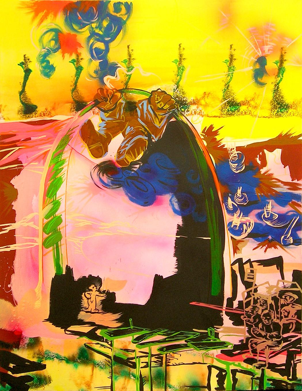 acrylique sur toile, 150 x 120 cm