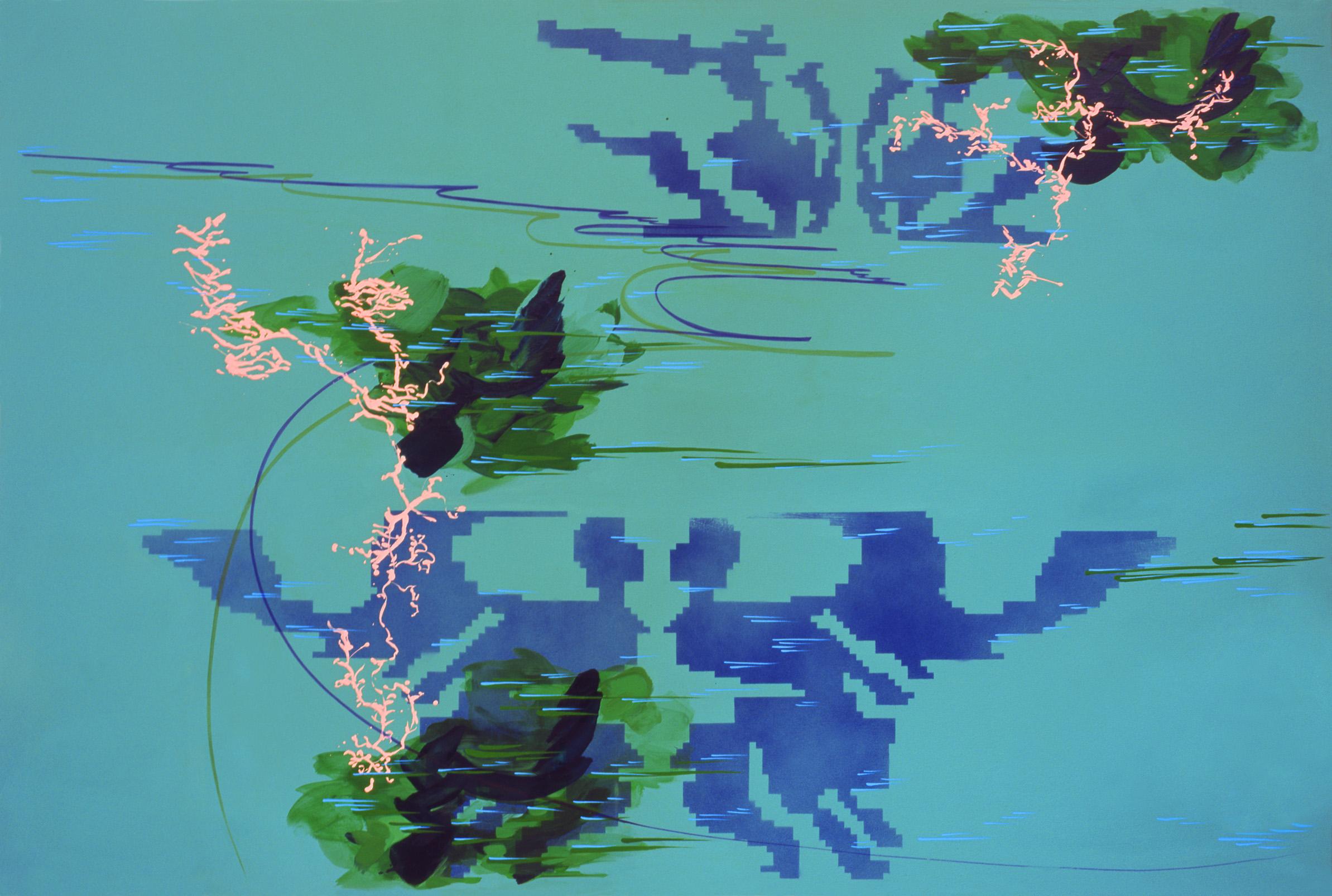 acrylique sur toile, 140 x 210 cm