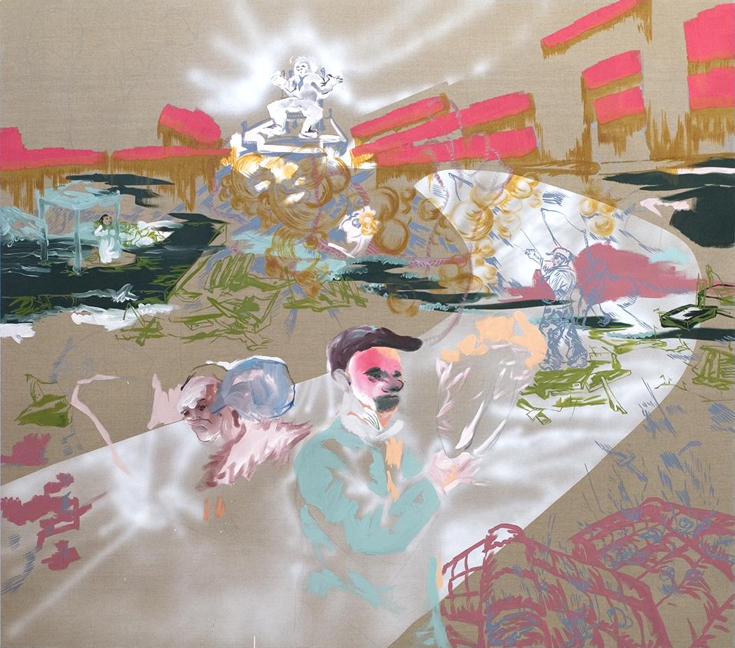 acrylique sur toile, 220 x 190 cm