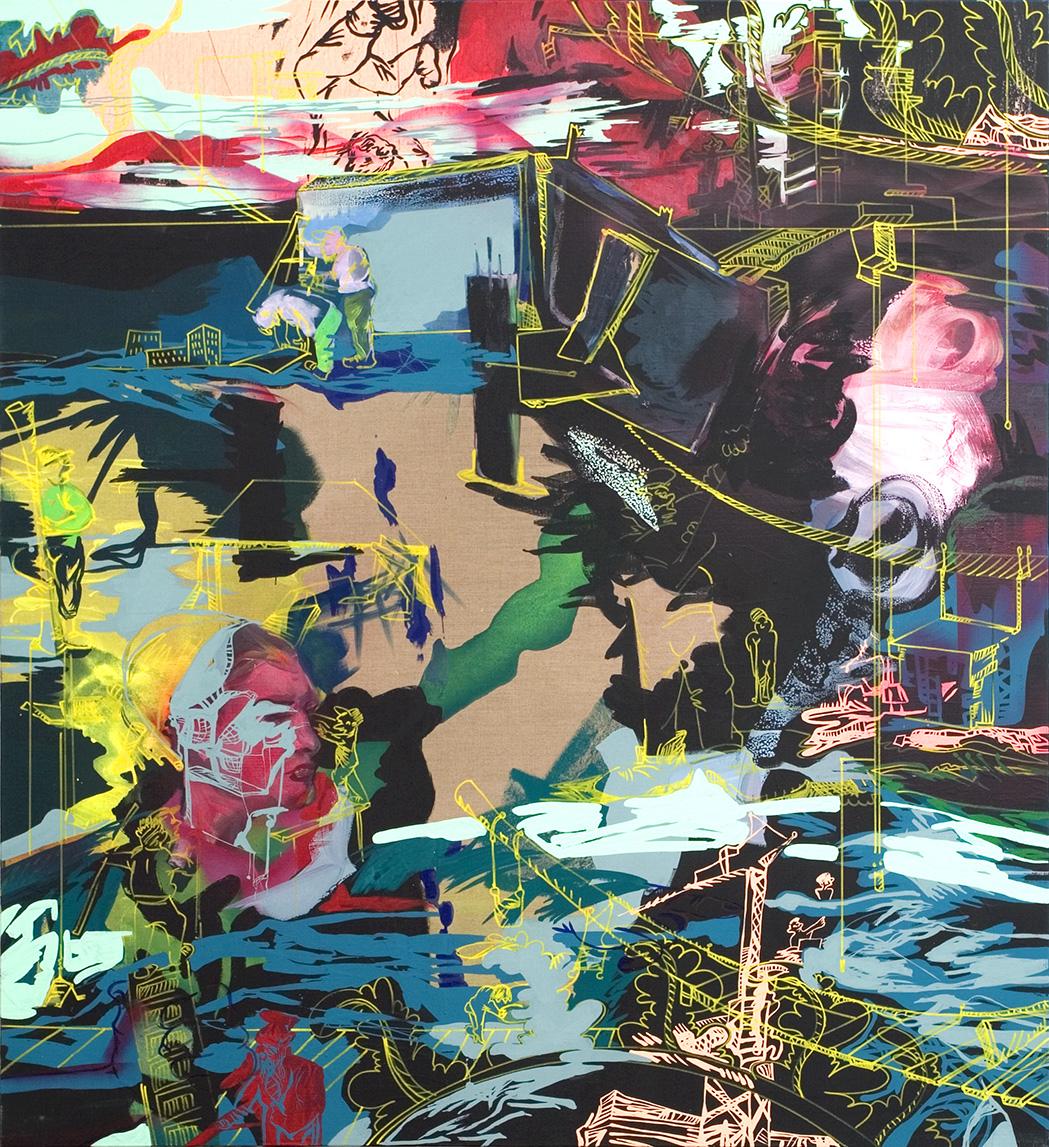 huile & acrylique sur toile, 194 x 176 cm