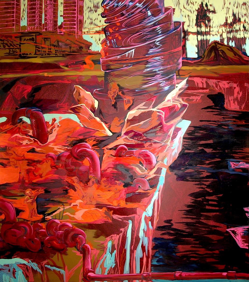huile & acrylique sur toile,217x191 cm