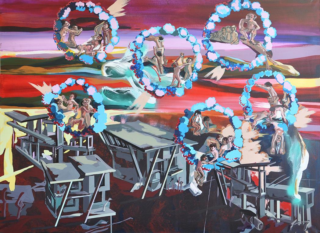 acrylique sur toile, 190 x 140 cm