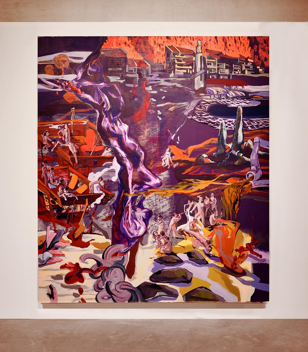 acrylique sur toile, 217 x 191 cm