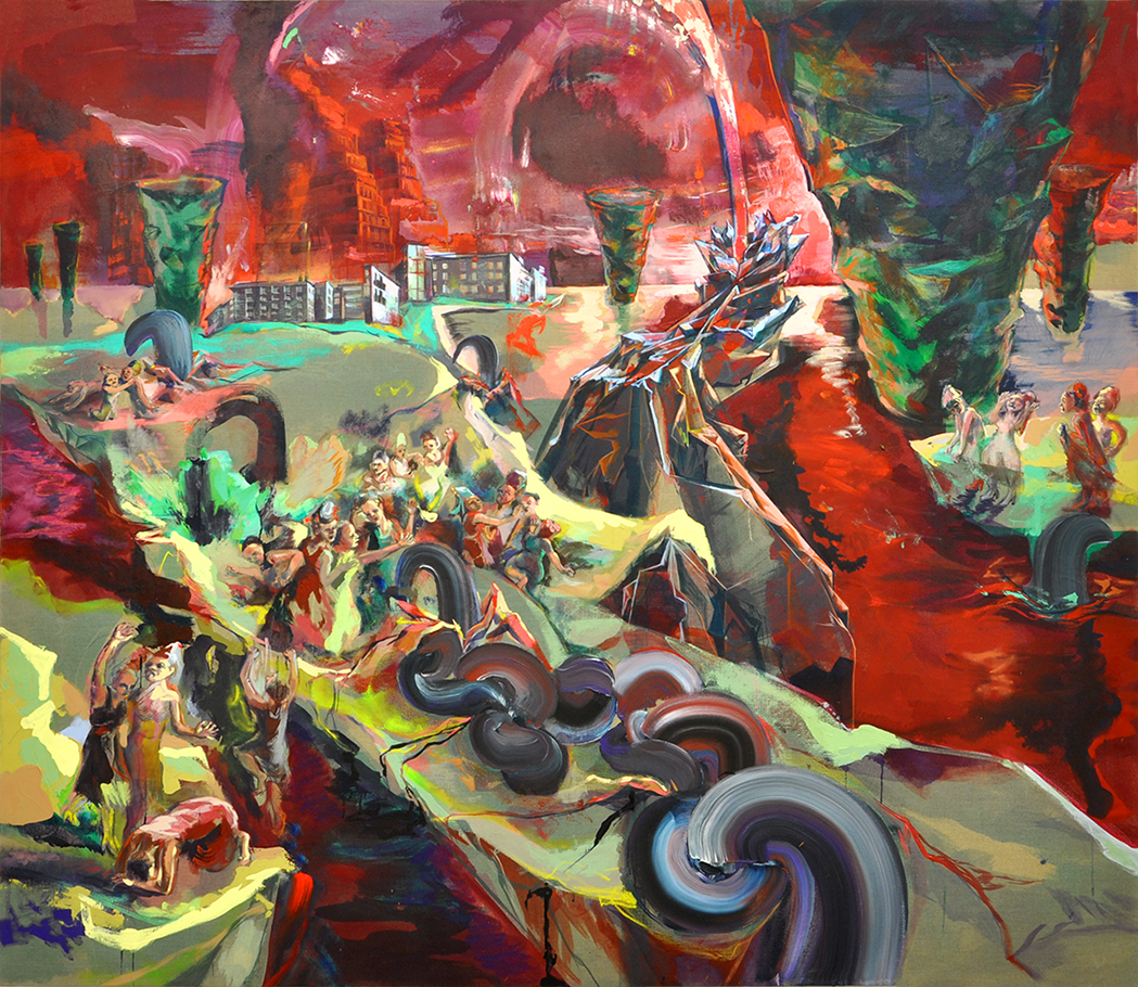 acrylique sur toile, 230 x 200 cm